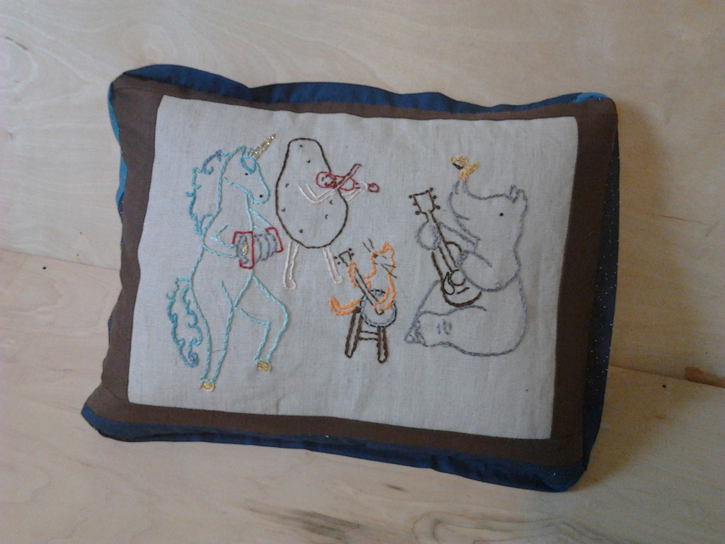 Animals Playing Music Pillow