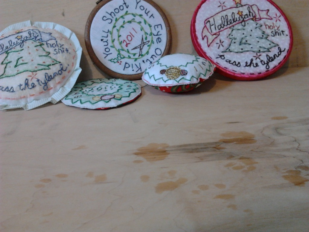 Christmas Embroideries and cat prints