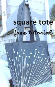 Square Tote Bag - Free Tutorial by WaterPenny