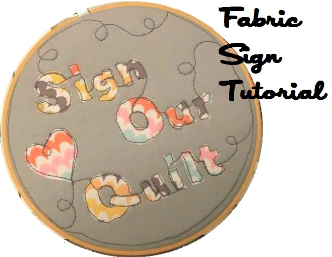 WaterPenny.net Fabric Applique Embroidery Hoop Sign Tutorial