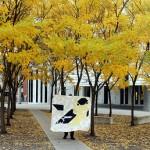 Charley Harper Goldfinch Pixel Quilt