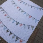 Monogram Bunting Wedding Quilt