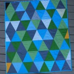 Teal Equilateral Baby Quilt – With Applique Baby Name