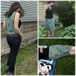 Knit Challenge: Charley Harper Knit Syrah Skirt and Layer Me Up Tank