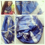 Infinity Scarf! and Spoonflower Cotton Voile Review