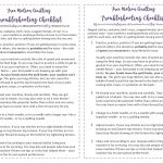 Free Motion Quilting Troubleshooting Checklist